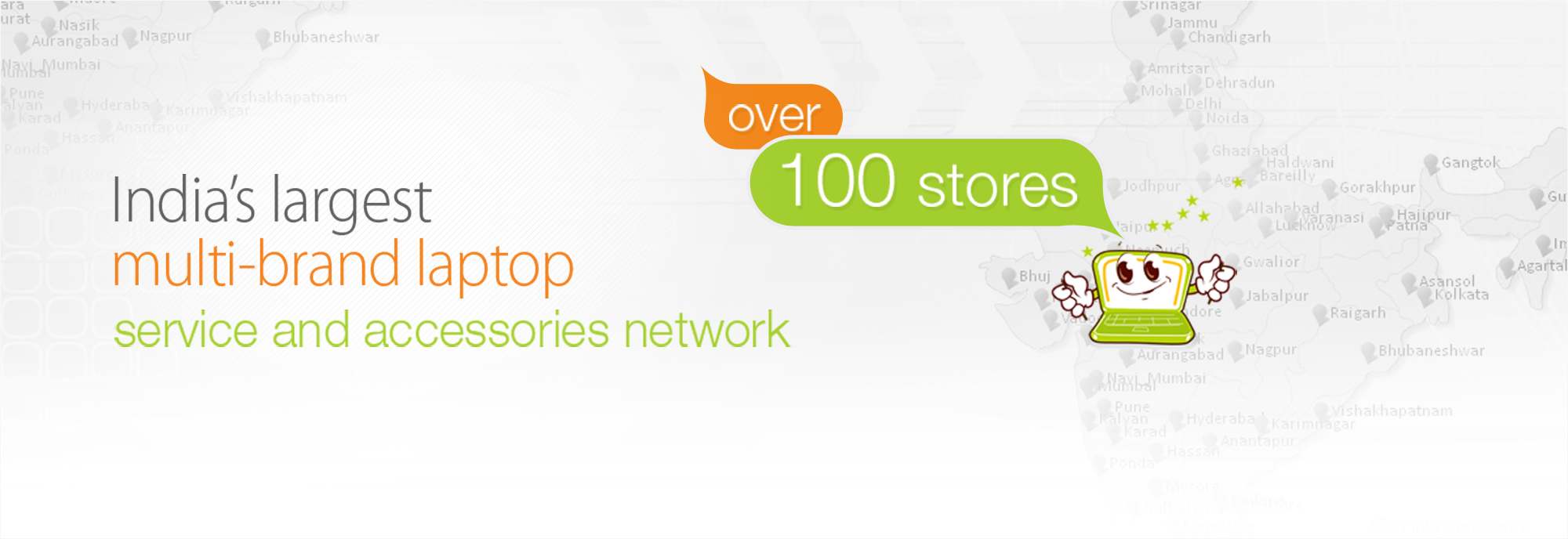 Clublaptop : India's largest multi brand laptop service & accessories network