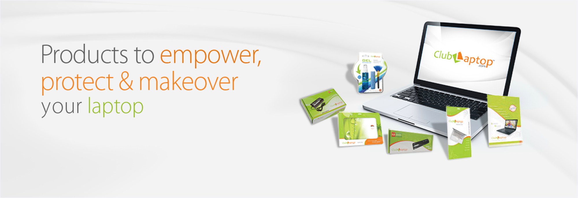 Clublaptop products to empower protect & makeover your laptop